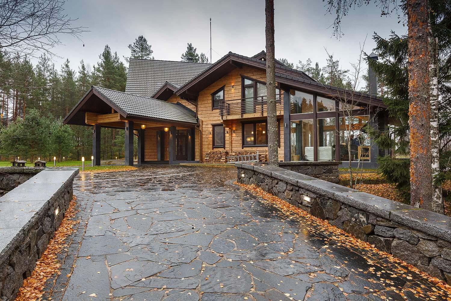 Архитектурный проект загородного коттеджа на Медном озере