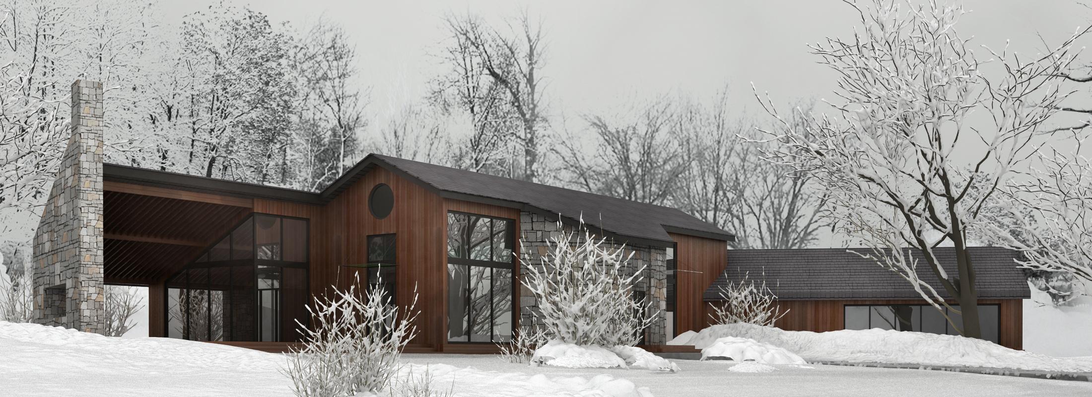 Архитектурный проект загородного дома в Комарово